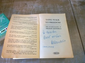 Markus Siegler's autographed copy of Nelson Mandela's autobiography is one of the  few possessions he took to the United States when he moved from Switzerland.