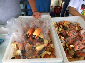 Stone crab claws are ready to be sold Nov. 9 at the Stone Crab Festival in Cortez.