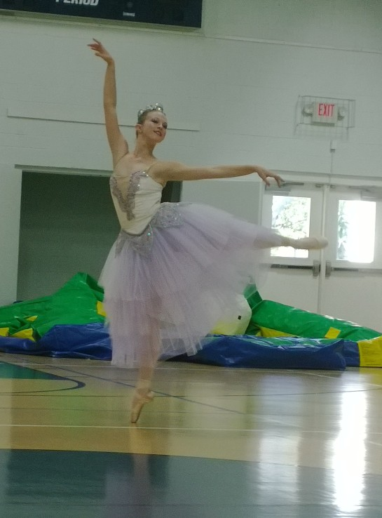 A student Students of Diane Partington's Studio of Classical Ballet of Sarasota perform for guests.
