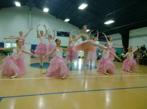 Students of Diane Partington's Studio of Classical Ballet of Sarasota perform for guests of the center's Family Fun Day Dec. 7. Dancers performed selections from the Nutcracker, which will be showing at the Sarasota Opera House Dec. 21-22.